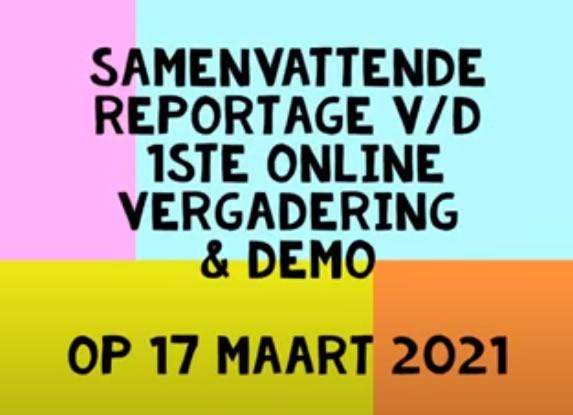 Verslag online vergadering van 17 maart 2021