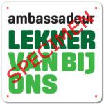 LOGO Iedereen ambassadeur LEKKER VAN BIJ ONS